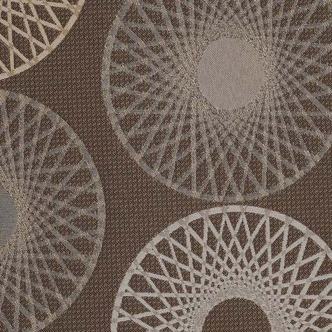 Mayer Upholstery Fabric Large Scale Spirograph Ecosphere Smoke Toto Fabrics