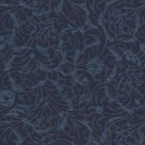 Upholstery Fabric Floral Scroll Design Eve Midnight Toto Fabrics