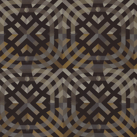 Momentum Textiles Upholstery Fabric Colorful Overlapping Geometric Evolve Onyx Toto Fabrics