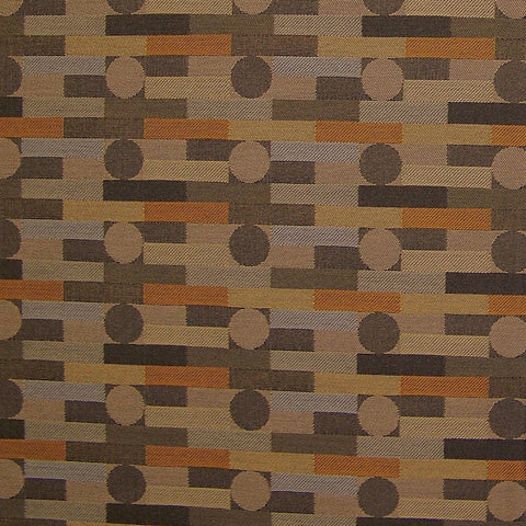 CF Stinson Upholstery Fabric Crypton Rectangles And Circles Fenestra Quail Toto Fabrics