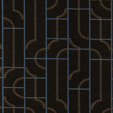 Maharam Fiddle Ink Geometric Crypton Gray Upholstery Fabric