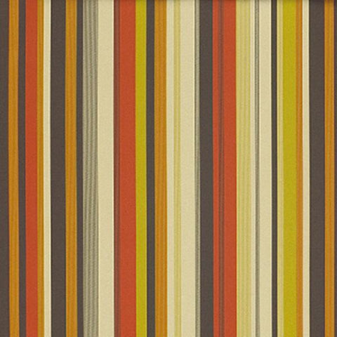 Momentum Fleet Miami Stripe Orange Upholstery Fabric