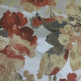 Swavelle Mill Creek Floral Retreat Rosewood Foliage Beige Upholstery Fabric