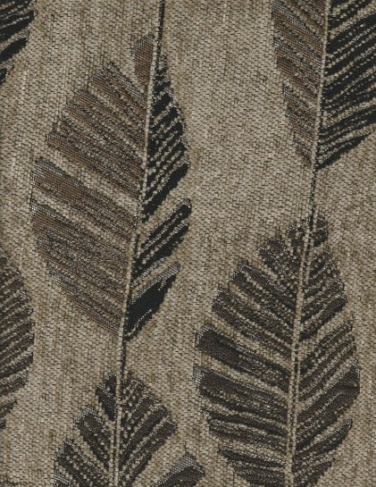 Upholstery Fabric Feather Leaf Forester Graphite Toto