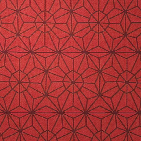 D.L. Couch Galaxy Redshift Geometric Red Upholstery Fabric