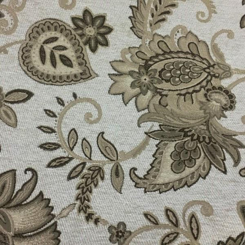 Swavelle Mill Creek Genesee Froth Floral Paisley Beige Upholstery Fabric