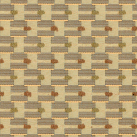 Architex Upholstery Fabric Interlocking Stripe Gravity Peanuts