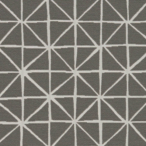 Arc-Com Grid Smoke Modern Designed Gray Upholstery Fabric