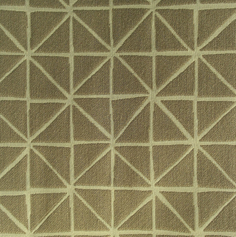 Fabric Remnant of Arc-Com Grid Stone Upholstery Fabric
