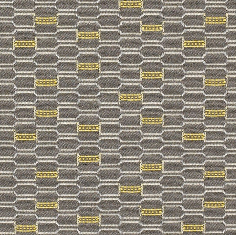 Momentum Habit Dune Honeycomb Brown Upholstery Fabric