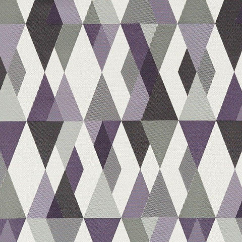 Upholstery Fabric Layered Diamond Design Harlequin Violet Toto Fabrics
