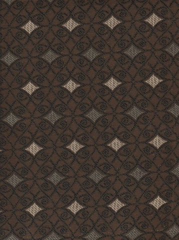 Upholstery Fabric Formal Diamond Design Heather Mocha Toto Fabrics