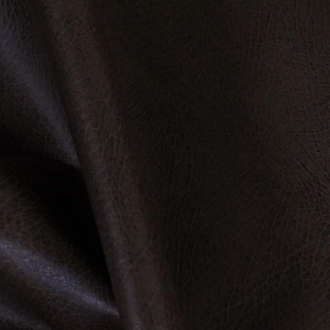 Houghton Mocha Distressed Faux Leather Brown Upholstery Vinyl