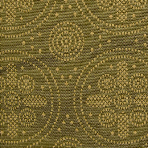 Upholstery Fabric Embroidered Vintage Circle Icon Diana Toto Fabrics
