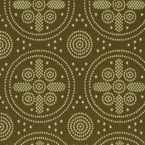 Knoll Icon Victoria Green Embroidered Vintage Upholstery Fabric
