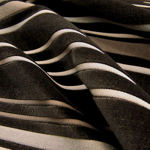 Infinity Stripe Color 72 Velvet Stripe Upholstery Fabric