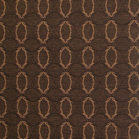 Pallas Textiles Upholstery Fabric Remnant Interlace Espresso