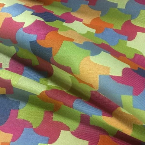 Momentum Interlock Tropical Geometric Multi Upholstery Fabric