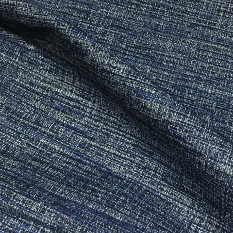 D.L. Couch Intrepid Harbor Weaved Blue Upholstery Fabric