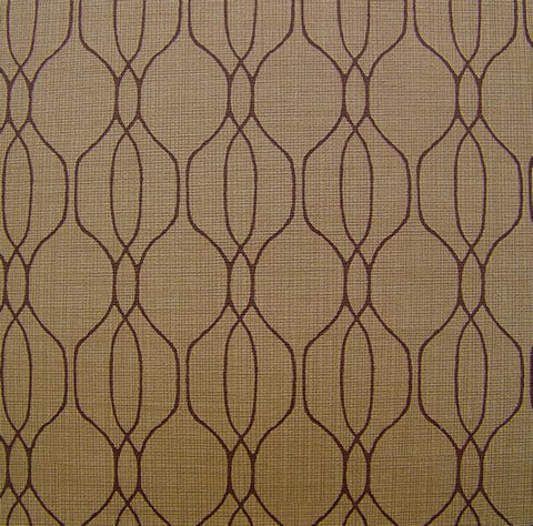 Arc-Com Isabella Nickle Ogee Pattern Vinyl Taupe Upholstery Vinyl