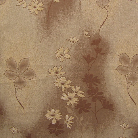 Upholstery Fabric Neutral Floral Jordan Brown Toto Fabrics