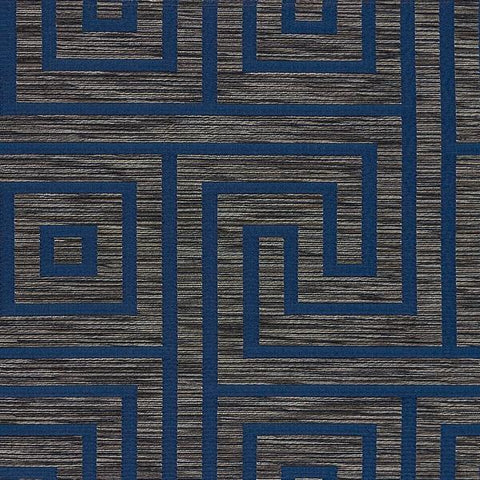 Arc-Com Upholstery Fabric Greek Key Key Midnight Toto Fabrics