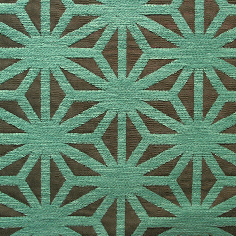 Arc-Com Upholstery Fabric Remnant Kirigami Caribbean
