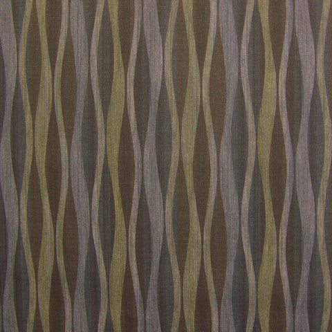 CF Stinson Lava Obsidian Wavy Striped Vinyl Black Upholstery Fabric