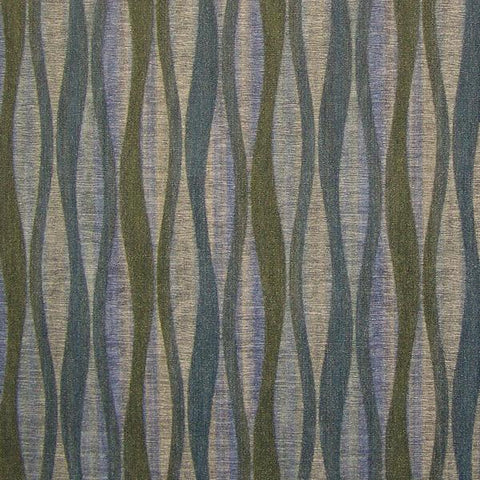 CF Stinson Lava Stream Wavy Striped Blue Upholstery Vinyl