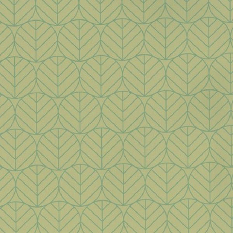Designtex Leaves Bamboo Geometric Leaves Green Upholstery Fabric