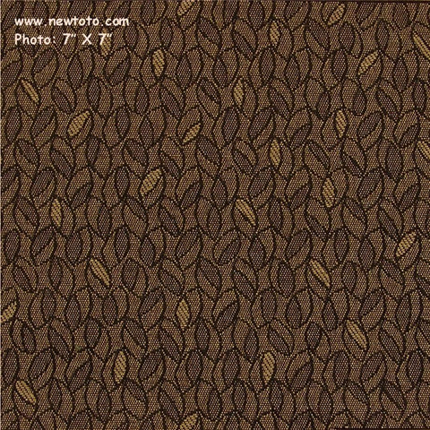 CF Stinson Lindley Park Mushroom Botanical Brown Upholstery Fabric