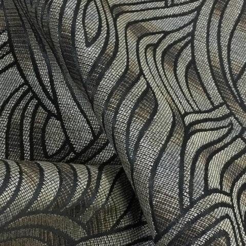 Swavelle Mill Creek Mammoth Cave Graphite Textured Gray Upholstery Fabric