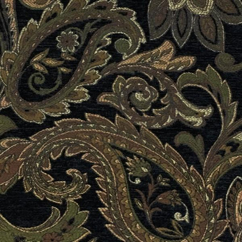Swavelle Mill Creek Upholstery Fabric Paisley Design Mathis Ebony Toto Fabrics