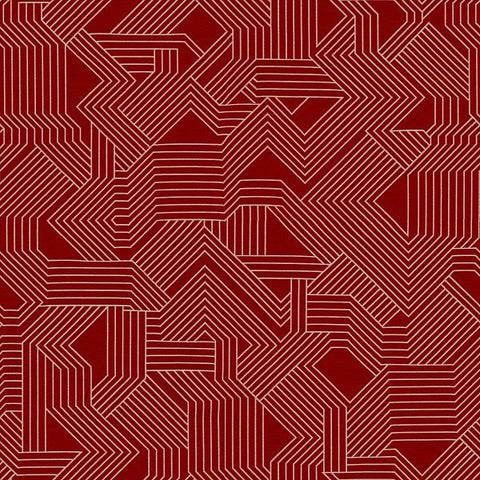Carnegie Upholstery Fabric Geometric Maze Color 37 Toto Fabrics