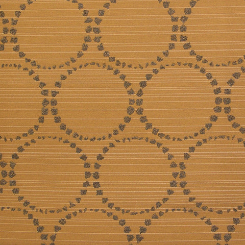 Momentum Textiles Upholstery Fabric Dotted Circle With Stripes Melodeon Wheat Toto Fabrics