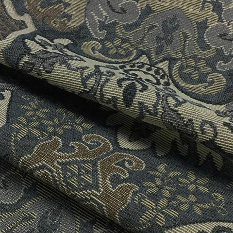 Swavelle Mill Creek Upholstery Fabric Formal Mia Steel Toto Fabrics