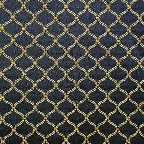 Upholstery Mini Ogee Classic Navy Toto Fabrics Online