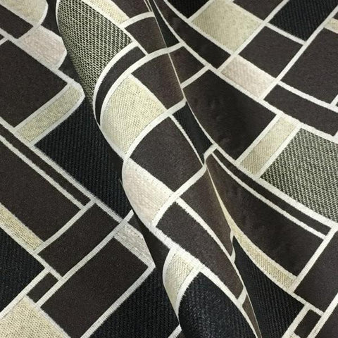 Swavelle Mill Creek Monochrome Sahara Geometric Black Upholstery Fabric