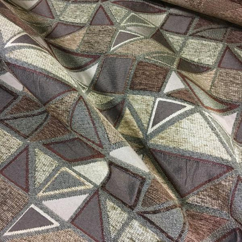 Swavelle Mill Creek Monopoly Spice Geometric Chenille Brown Upholstery Fabric
