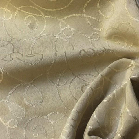 Swavelle Mill Creek Upholstery Fabric Scroll Morass Sesame Toto Fabrics