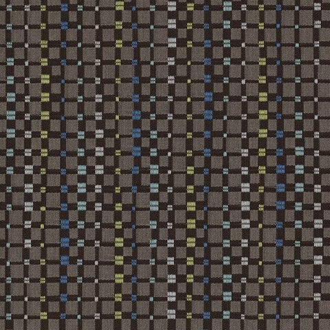 Maharam Multiply Town Small Check Gray Upholstery Fabric