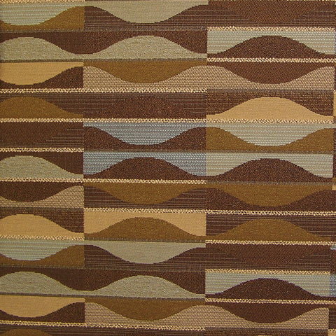 Arc-Com Murano Hazelnut Brown Geometric Upholstery Fabric