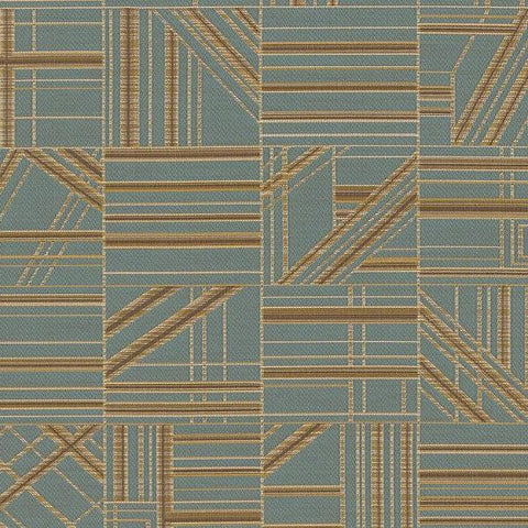 CF Stinson Nest Tile Geometric Blue Upholstery Fabric