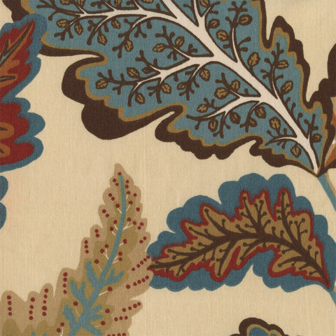 Upholstery Fabric Cotton Leaf Print Noisette Autumn Toto Fabrics