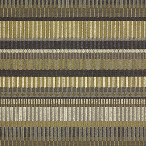 Momentum Northern Lights Goldenrod Stripe Gold Upholstery Fabric
