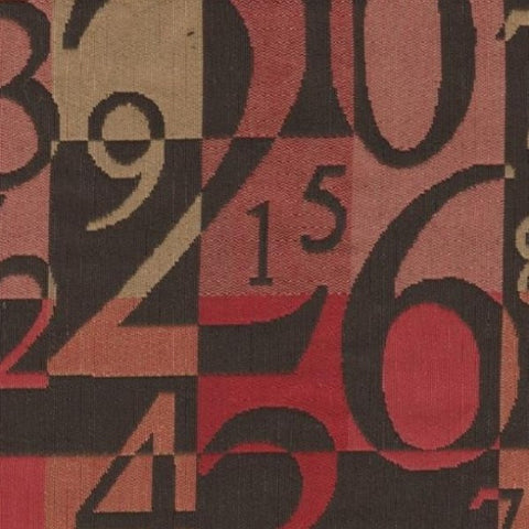 Upholstery Fabric Number Themed Number Rouge Toto Fabrics