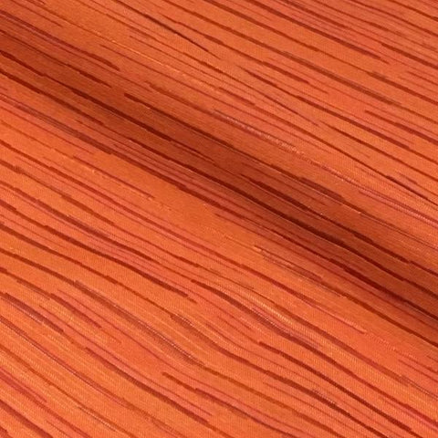 Pallas Off Track Mango Pencil Stripe Orange Upholstery Fabric