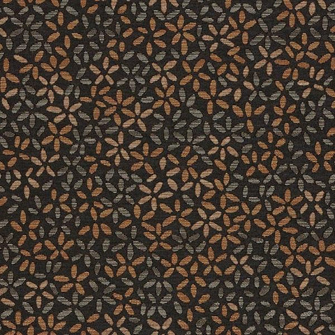 Arc-Com Ombre Petal Coal Small Floral Black Upholstery Fabric