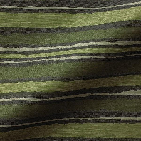 Pallas Painted Stripe Pistachio Stripe Green Upholstery Fabric