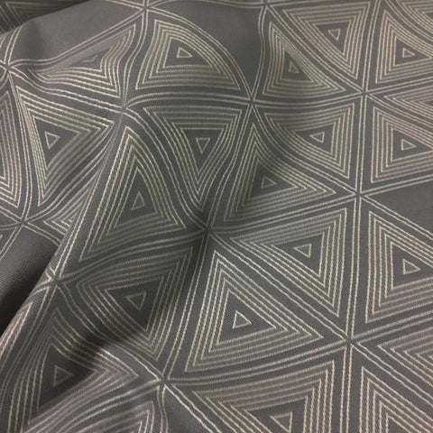 CF Stinson Perimeter Sterling Geometric Gray Upholstery Fabric